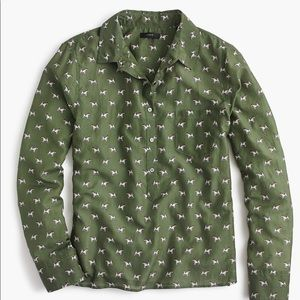 J. Crew Popover Terrier shirt 14